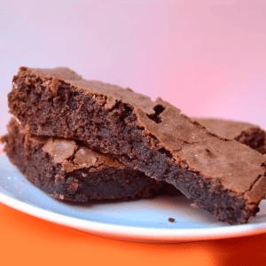 brownie porción